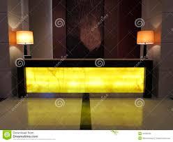 Hotel Lobby Reception Desk by Fancy Reception Desk Lobby In Luxury Resot Hotel Stock Photo