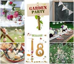 fantastic 18th birthday party ideas village garden theme party