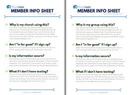 member info sheets why should i sign up flocknote help