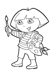 coloring pages dora and diego picture 23