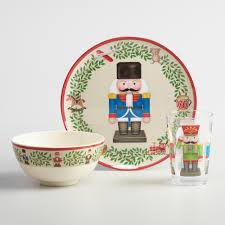 thanksgiving melamine plates holiday nutcracker melamine plates set of 4 world market