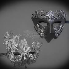 masquerade mask for couples his hers couples masquerade mask silver filigree metal