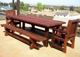 custom redwood dining table ltdonlinestores com