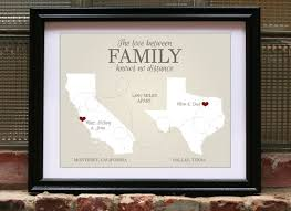 wedding gift map distance family going away gift for wedding
