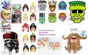 Free Printable Halloween Masks by A Collection Of Printable Halloween Masks U2013 Pinlavie Com