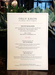 boutique inauguration invitation website launch orly khon floral
