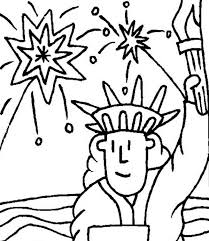 fireworks and statue of liberty coloring page download u0026 print