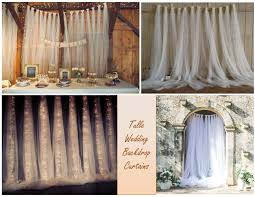 wedding backdrop tulle tulle backdrop curtains wedding backdrop by weddingtrousseau