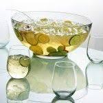 mid century dorothy thorpe silver rim punch bowl set w 12 roly
