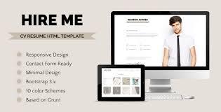 Resume Html Template Top 7 Resume Cv And Portfolio Psd Templates