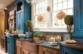 Distressed Kitchen Cabinets Blue Distressed Kitchen Cabinets Farmhouse Stylish The Decoras