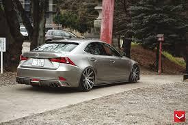 2014 lexus is atomic silver vossen wheels lexus is vossen cv4