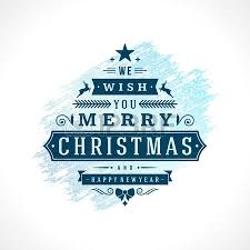 merry christmas typography greeting card design and decoration