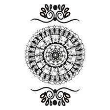 Traditional Design | henna black mandala traditional design temporary tattoo for you