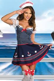 navy multi ship happens dotted sailor costume clubwear