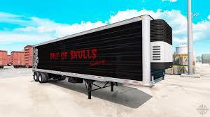 semi trailer truck refrigerated semi trailer pile of skulls for american truck simulator