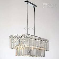 Modern Rectangular Chandelier 65 19 62cm Rectangle Polished Chrome Pipe Erected Ceiling