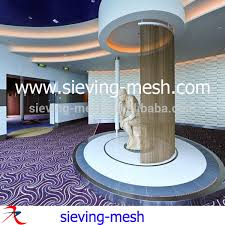 Hanging Curtains From Ceiling To Floor by Woven Metal Wire Curtains Hanging Ceiling Metal Hanging Curtains