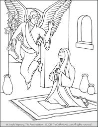 bible coloring pages throughout angel appears to mary coloring