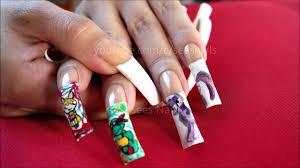 free hand nail art my little pony tmnt powerpuff girls on