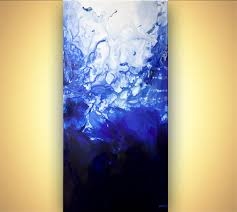 abstract painting blue abstract painting home decor 7624