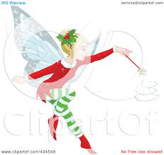 royalty free rf clipart illustration of a christmas fairy