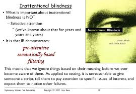 Inattentional Blindness Definition Exploratory Test Automation Ppt Download
