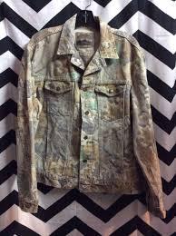 Rugged Outdoor Wrangler Denim Jacket Camo Print Rugged Outdoor Wear
