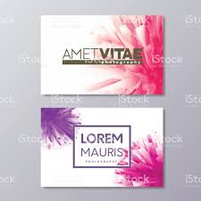 abstract floral business card templates with colorful vector