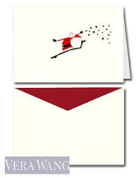 whimsical santa with greeting cards by vera wang