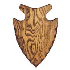 serious archery arrowhead wood plaque for bow trophy