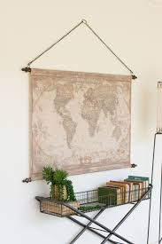 Vintage World Map Canvas by This Canvas Banner Displays A Beautifully Aged World Map That