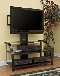 Design Of Lcd Tv Cabinet Open Shelves Black Tone Flat Screen Tv Cabinet Combined Yellow