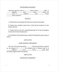 business agreement form templateagreement form doc apartmental