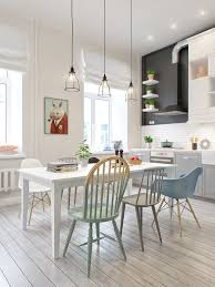 dining room chic scandinavian dining room features eames dining
