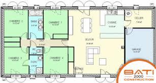 plan maison plain pied 4 chambres avec suite parentale villa