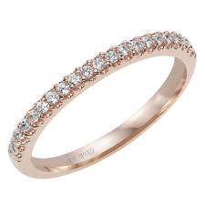 artcarved bridal 31 v337r l phoebe 14k pink gold diamond wedding band for by