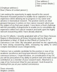 cover letter for research assistant position cover letter