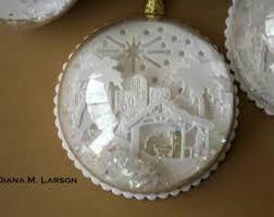 snow globe ornament etsy
