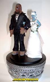 wars wedding cake topper jackoftradze custom wars figures custom flashback