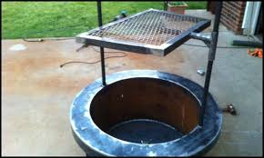 Fire Pit Grill Insert by Fire Pit With Cooking Grill Diy Projects For Everyone