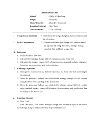 lesson plan hess law 90 from mr tono enthalpy chemistry