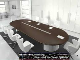 Conference Table With Chairs Oval Meeting Table Oval Furniture Ideas Youtube