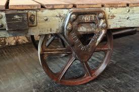 industrial vintage factory cart coffee table olde good things