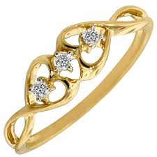 gold promise rings diamond promise ring in 10kt yellow gold 05ct tw
