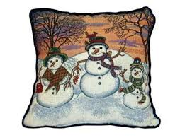 theme pillows winter snowman theme decorative christmas throw pillow