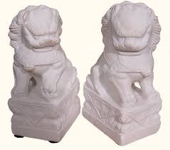 foo dogs for sale asian foo dog statues in marble for garden use 5 h