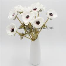 Wedding Flowers Table Decorations Aliexpress Com Buy 100 Pcs Wholesale Real Touch Anemones Wedding