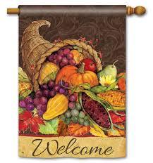 Fall Garden Flag Thanksgiving Cornucopia Garden Flags Thanksgiving Wikii