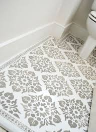 Best Tile For Basement Concrete Floor by Best 25 Stenciled Floor Ideas On Pinterest Painting Tile
